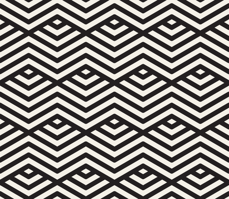 Vector seamless pattern. Modern stylish abstract texture. Repeating geometric tiles Illustration