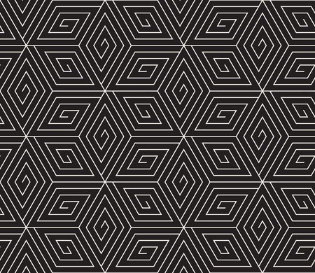 Vector seamless pattern. Modern stylish abstract texture. Repeating geometric tiles Illusztráció