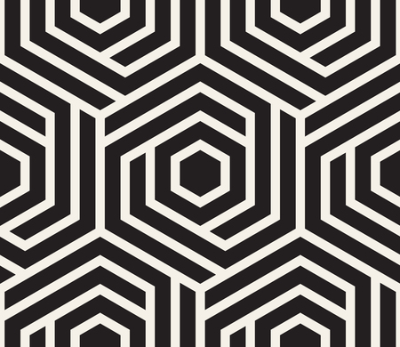 Vector seamless pattern. Modern stylish abstract texture. Repeating geometric tiles Vettoriali