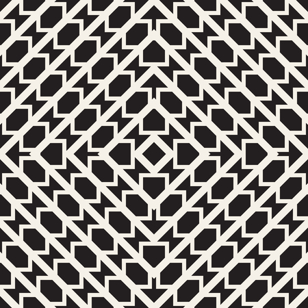 Seamless surface geometric design. Repeating tiles ornament background. Vector symmetric shapes pattern Illustration