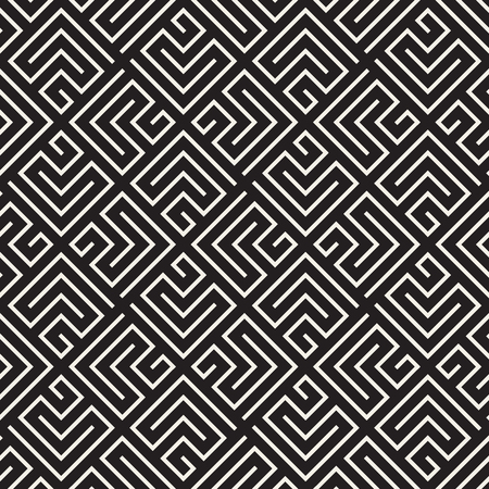 A Vector seamless lattice pattern. Modern stylish texture with monochrome trellis. Repeating geometric grid. Simple design background. Vettoriali