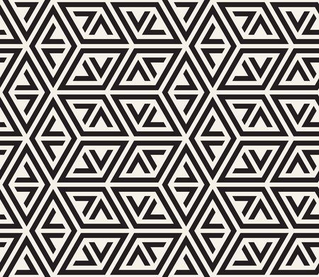 Vector seamless pattern. Modern stylish abstract texture. Repeating geometric tiles from striped elements i