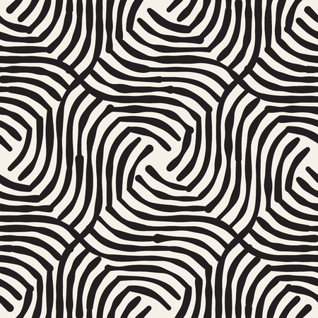 Hand drawn striped seamless pattern with brushstrokes tiling. Abstract freehand texture for print