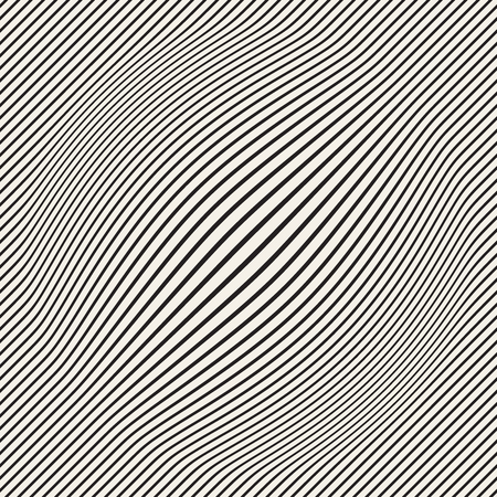 Halftone bloat effect optical illusion. Abstract geometric background design. Vector seamless retro black and white pattern. Vectores