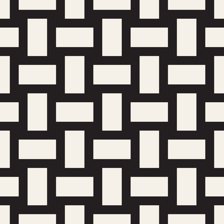 Black and white twill weave lattice pattern. Illustration