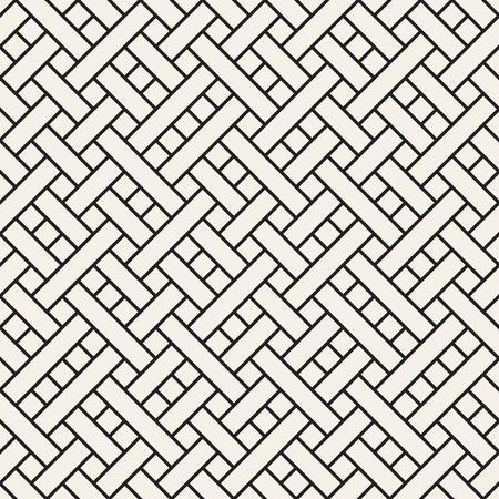 Weaved geometric tiles vector seamless pattern.