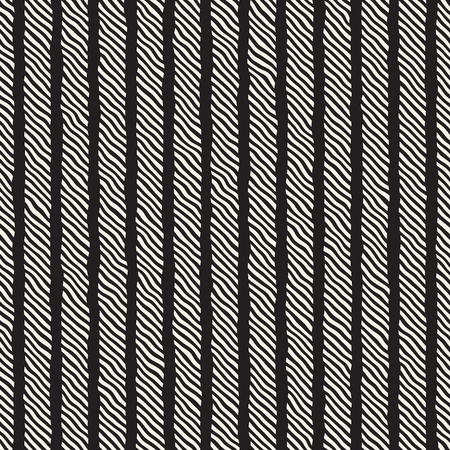 Hand drawn diagonal lines forming into ropes seamless pattern. Çizim