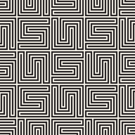 Lattice vector seamless pattern. Modern stylish texture with monochrome trellis. Repeating geometric grid simple graphic design background. Vector Illustration