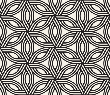 Modern stylish abstract texture. Repeating geometric tiles from striped elements vector seamless pattern.