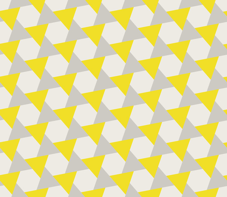 Vector Seamless Grey Yellow Geometric Triangle Shape Tessellation Pattern Abstract Background Illustration