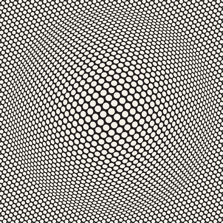Halftone bloat effect optical illusion image illustration