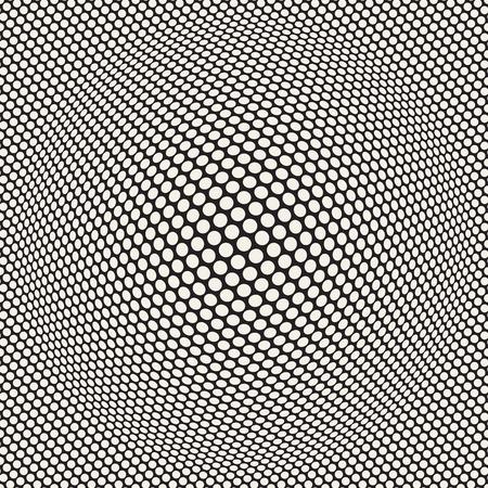 Halftone bloat effect optical illusion image illustration