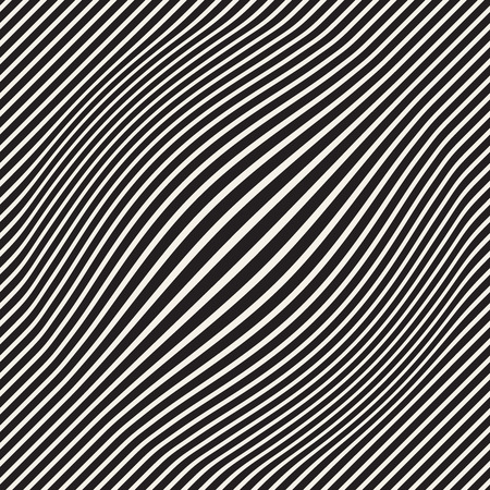 Halftone bloat effect optical illusion. Abstract geometric background design. Vector seamless retro black and white pattern. Stok Fotoğraf - 100119282