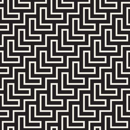 Stylish lines lattice. Ethnic monochrome texture. Abstract geometric background design.