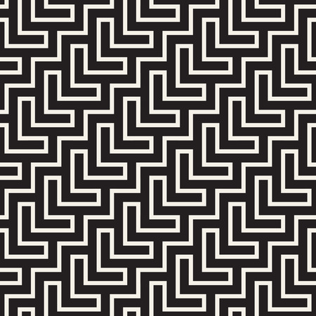 Stylish lines lattice. Ethnic monochrome texture. Abstract geometric background design.