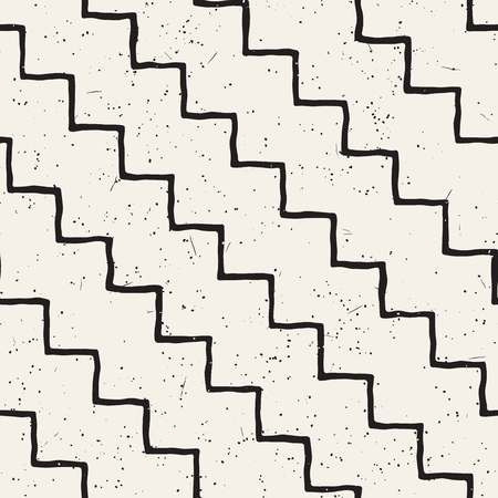 Simple ink geometric pattern. Monochrome black and white strokes background. Hand drawn ink brushed texture for your design.