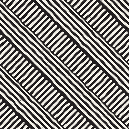 Hand drawn seamless repeating pattern with lines tiling. Grungy freehand ink brush background texture.