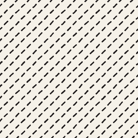 Hand drawn style ethnic seamless pattern. Abstract grungy geometric shapes background in black and white.  イラスト・ベクター素材