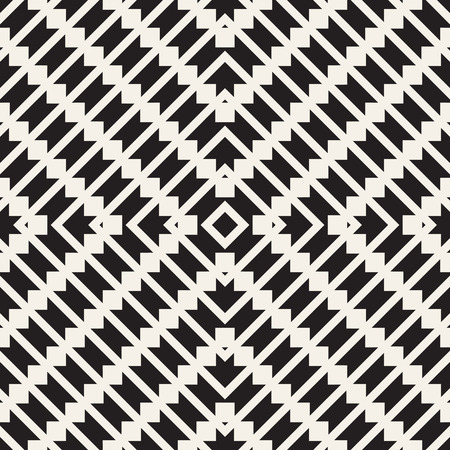 Seamless surface geometric design. Repeating tiles ornament background. Vector symmetric shapes pattern Vettoriali