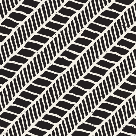 Simple ink geometric pattern. Monochrome black and white strokes background. Hand drawn ink brushed texture for your design Vectores