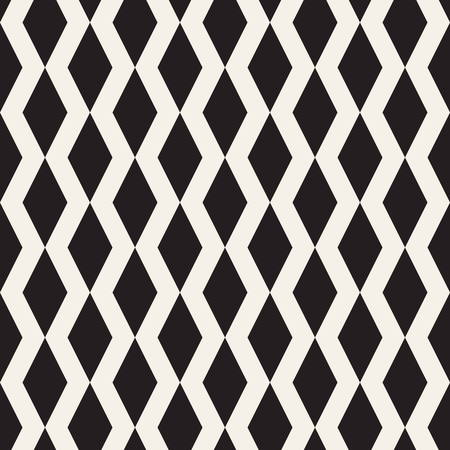 Vector seamless pattern. Modern stylish abstract texture. Repeating geometric tiles from striped elements 矢量图像