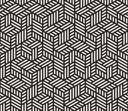 Vector seamless pattern. Modern stylish abstract texture. Repeating geometric tiles from striped elements Иллюстрация