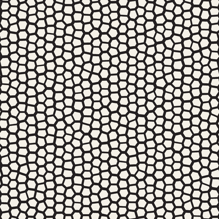 Seamless irregular lines vector mosaic pattern. Abstract chaotic tessellation texture. Random shapes pavement background