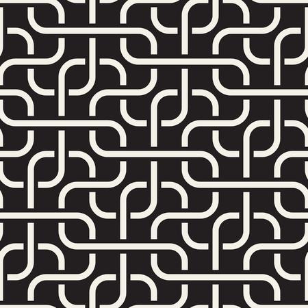 Nahtloses geometrisches Muster des Vektors. Einfaches abstraktes Liniengitter. Stilvolle Hintergrundkacheln der sich wiederholenden Elemente