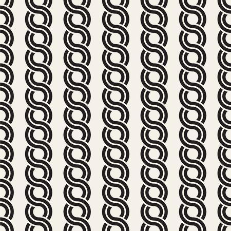 ベクトルシームレスな丸みを帯びたインターレースパターン。モダンでスタイリッシュな抽象的なテクスチャ。ストライプ要素からジオメトリタイルを繰り返す