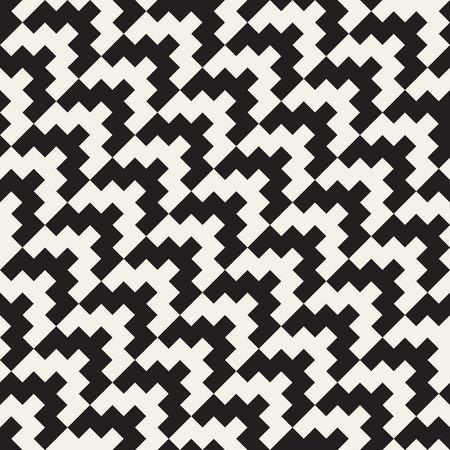 Nahtloses geometrisches Muster des Vektors. Einfaches abstraktes Liniengitter. Stilvolle Hintergrundkacheln der sich wiederholenden Elemente Vektorgrafik