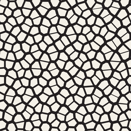 Seamless irregular lines vector mosaic pattern. Abstract chaotic tessellation texture. Random shapes pavement background Vector Illustratie