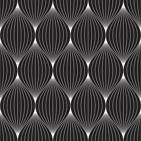 Vector seamless pattern. Modern stylish abstract texture. Repeating geometric tiles from striped elements Vectores