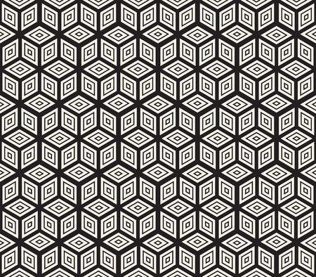 Vector seamless abstract pattern. Modern stylish lattice texture. Repeating geometric tiles with hexagonal elements. Illustration