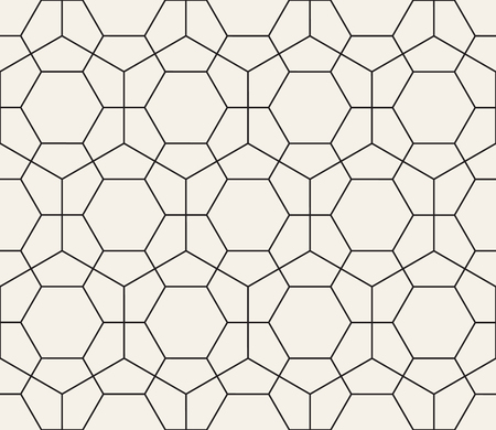 Vector seamless pattern. Modern stylish abstract texture. Repeating geometric tiles from hexagonal elements Illustration