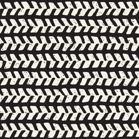 Simple ink geometric pattern. Monochrome black and white strokes background. Hand drawn ink brushed texture for your design