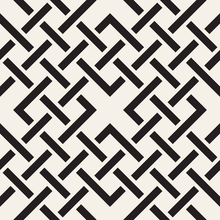 Vector seamless pattern. Modern stylish abstract texture. Repeating geometric tiles from interlacing lines Illustration