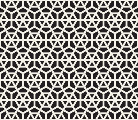 Vector seamless pattern. Modern stylish abstract texture. Repeating geometric hexagon tiles 向量圖像