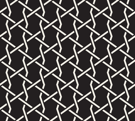 Vector seamless interlacing lines pattern. Modern stylish abstract texture. Repeating geometric tiles 向量圖像