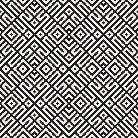 Ethnic pattern vector design. Seamless geometric lattice background. Square repeating lines elements.