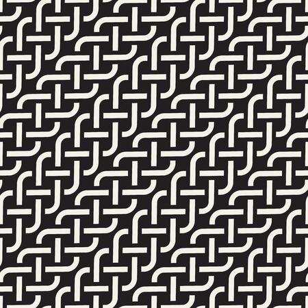 Motif géométrique sans soudure de vecteur. Treillis de lignes abstraites simples. Répétition des éléments fond élégant Vecteurs