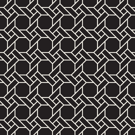 Vector seamless pattern. Modern stylish abstract texture. Repeating geometric interlacing shapes ornament.