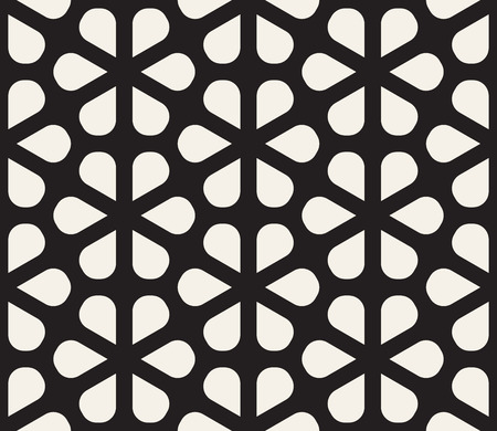 Vector seamless pattern. Modern stylish abstract texture. Repeating geometric petal shapes lattice design
