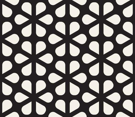 Vector seamless pattern. Modern stylish abstract texture. Repeating geometric petal shapes lattice design Ilustração Vetorial
