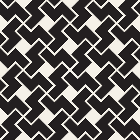 Vector seamless geometric pattern. Simple abstract lines lattice. Repeating zigzag shapes stylish background tiling Ilustrace