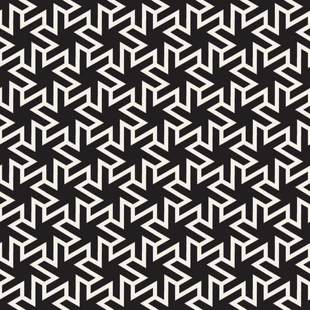Vector seamless geometric pattern. Simple abstract lines lattice. Repeating star elements tiling stylish background.