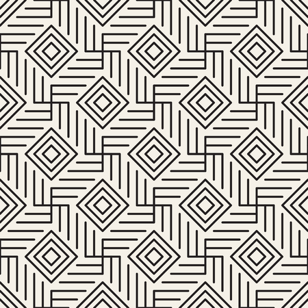 Vector seamless pattern. Modern stylish abstract texture. Repeating geometric rhombuses and crossing thin lines background.