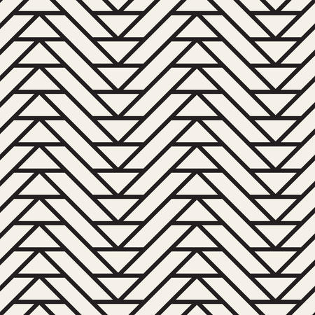 Abstract pattern with thin lines. Vector seamless geometric tiling background. Black and white lattice design.