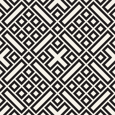 Ethnic pattern vector design. Seamless geometric lattice background. Square repeating lines elements. 向量圖像