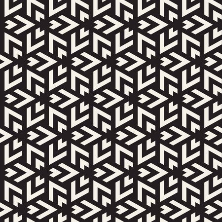 Vector seamless triangle lines mosaic pattern. Modern stylish abstract texture. Repeating geometric tiles Çizim