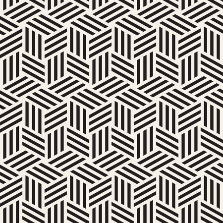 Abstract geometric pattern with stripes. Vector seamless thin lines tiling background. Black and white linear lattice texture. Çizim